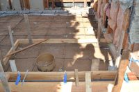 framing concrete form slab under room addition