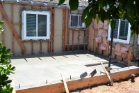 room addition slab concrete contractors