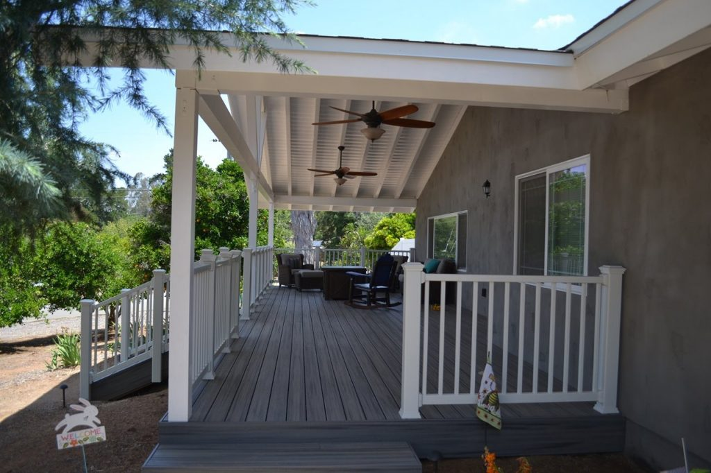 gray trex decking san diego contractor