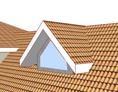 Gable front dormer window courtesy Wikipedia.