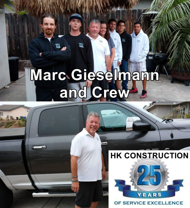 Best San Diego contractors: Marc and Crew - HK Construction San Diego