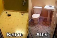 Bathroom Before and After HKRemodel