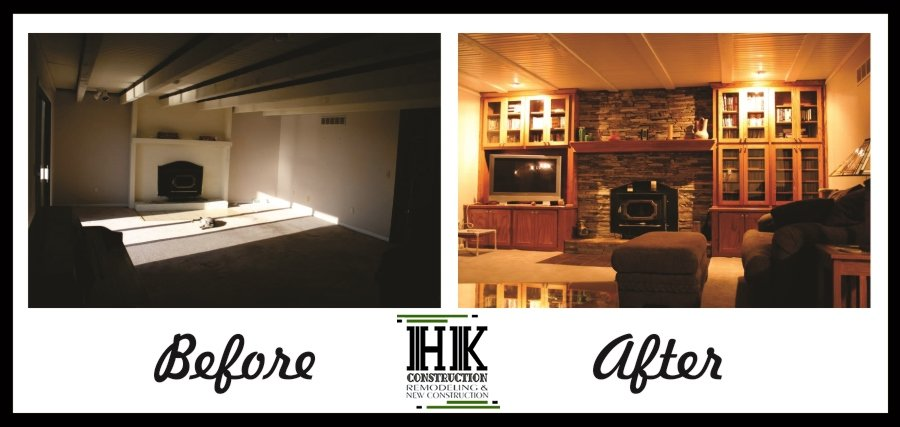 Living Room Before and After Best Local Honest Contractors San Diego Home Remodeling HK Construction